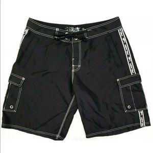 Pelagic Mens Pants 34 Black Fin Fishing Shorts